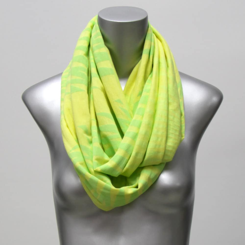 SUMMER SALE Fashion Neck Scarf Loop Infinity Wrap Circle Scarves Neon  Head Scarves Fashion Sale
