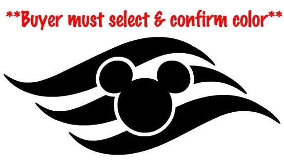 Disney Cruise Line Logo Vinyl Decal Sticker New By