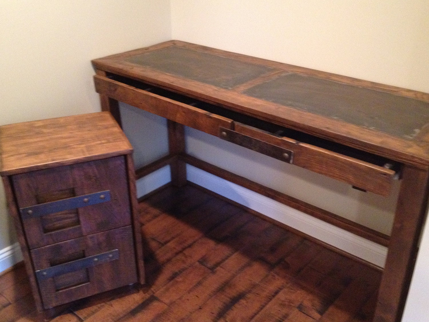 ... Old Desk For Some Boring Old Office Spaceu2013 Bring Some Style Into Your  Business Or Home Office With This Gorgeous Steel And Solid Reclaimed Oak  Desk.