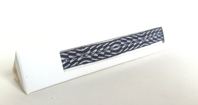 Woven bracelet - Unisex bracelet - Friendship bracelet - Black and white bracelet - Delicate, elegant bracelet - Card weaving bracelet p61 - asailorwhoweaves