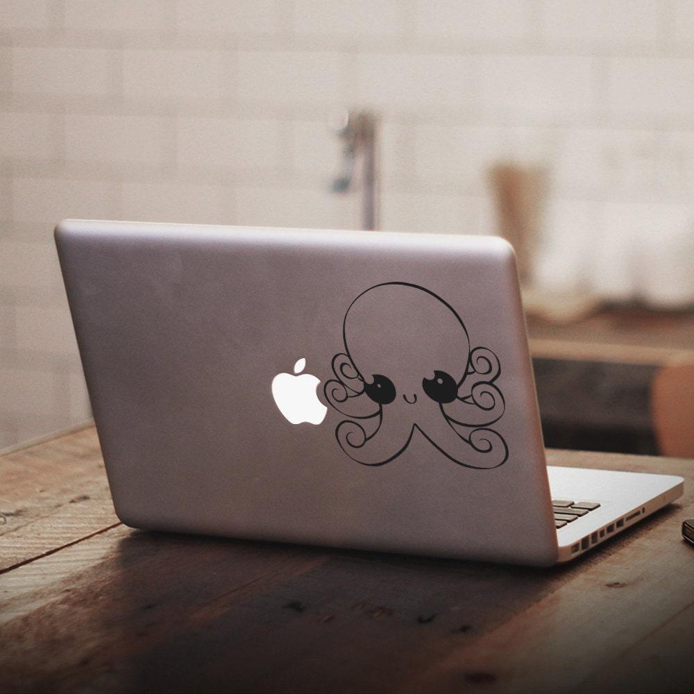 Cute Anime Chibi Octopus Vinyl Decal Sticker Macbook Sticker, Mac Sticker, Mac Decal, Octopus Decal, Anime Sticker, Cute Decal, Cute