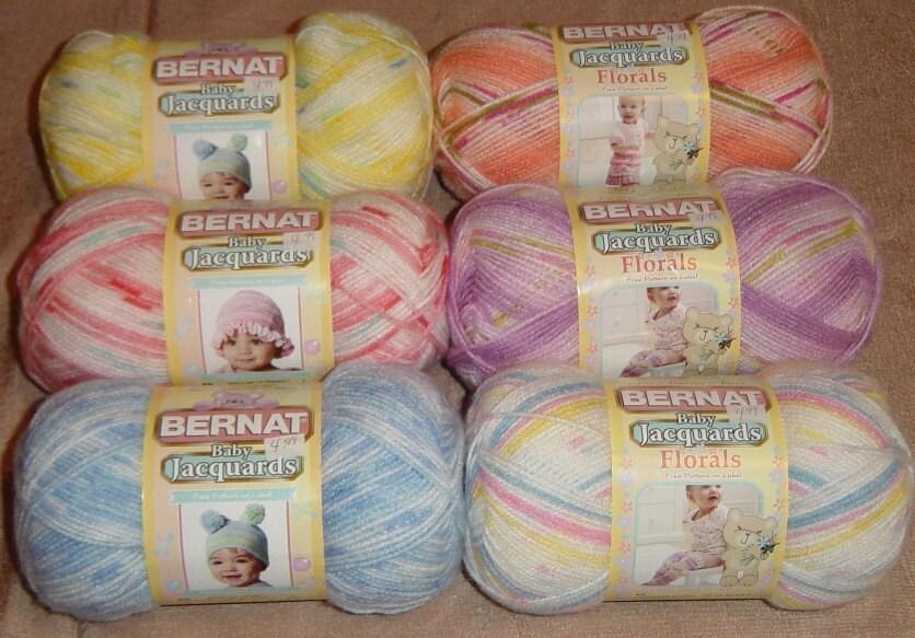 Knitting Patterns For Bernat Baby Yarn : Bernat Baby Jacquards Yarn Florals Yarn Knitting Yarn by YacketUSA
