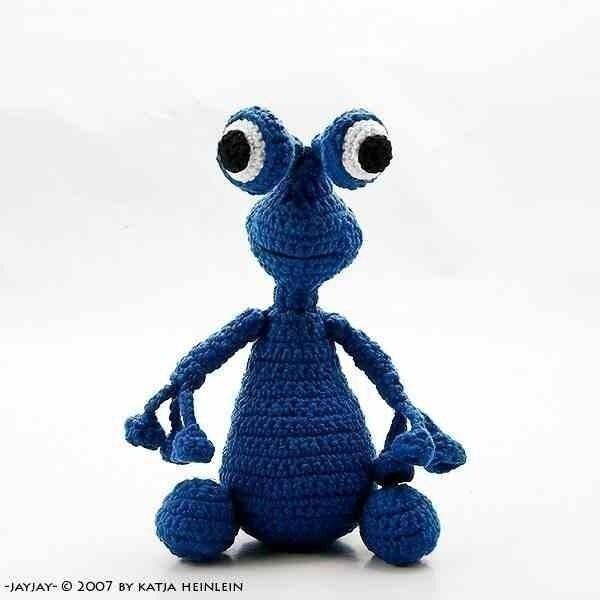 alien JayJay crochet pdf pattern amigurumi tutorial by ...