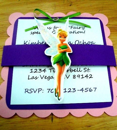items similar to tinkerbell invitation birthday baby shower on etsy