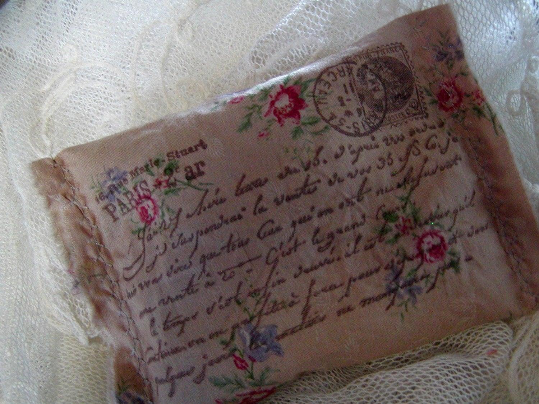Французская Саше открытка - романтический цветочный - французский сценарий (0265)