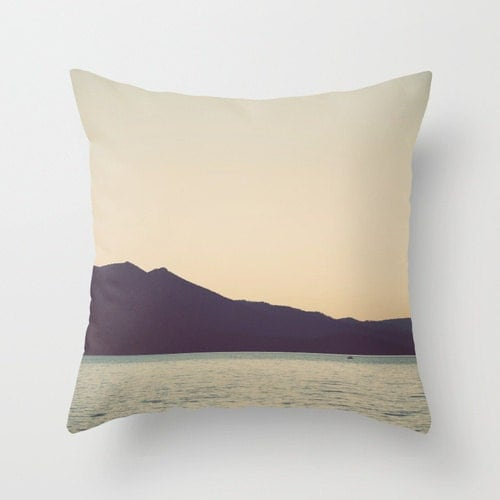 Pillow cover lake tahoe sunset seventies blue by studioclaire for 20x20 living room
