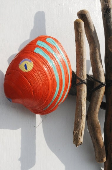 Items similar to driftwood fish wall hanging reclaimed for Wooden fish wall decor