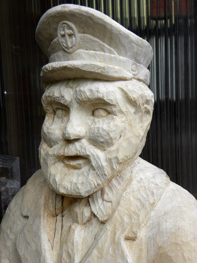 Sea captain carved in basswood by arrikworld on etsy