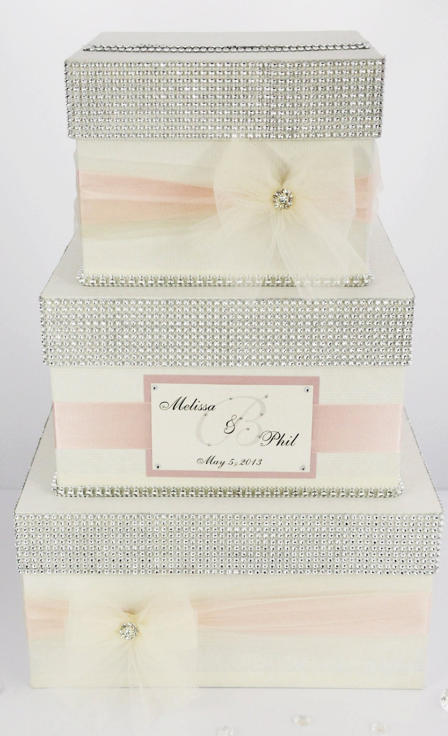 Card Box Wedding Box Wedding Money Box 3 Tier By DiamondDecor
