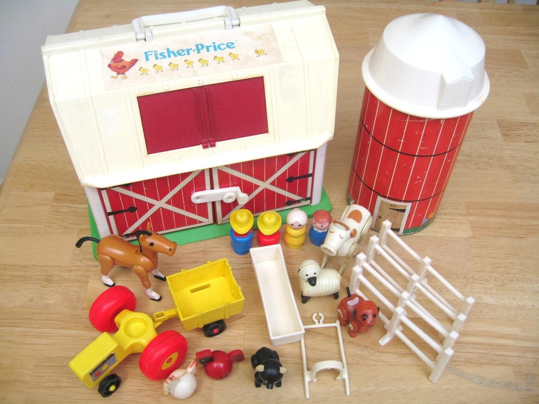 Vintage Fisher Price Farm Set By Toysofthepast On Etsy