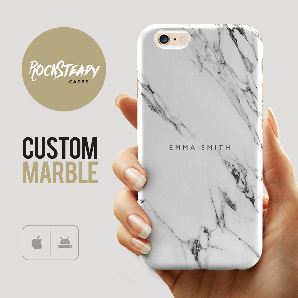 Custom Name Marble Phone case personalised marble iPhone 6s case iPhone 7 6 Plus 5C 5S SE case personalized Galaxy S6 S7 S5  cover