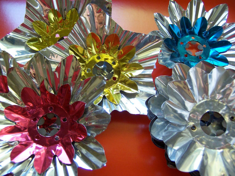 christmas light bulb aluminum reflectors by therunawaypancake