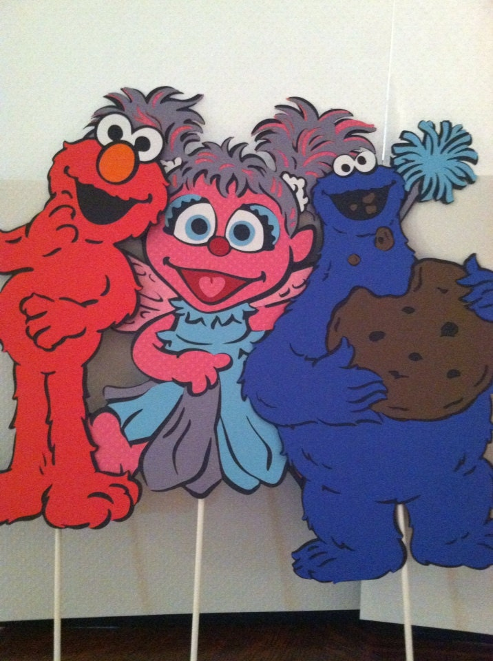 Sesame Street's Elmo Cookie Monster and Abby by ...