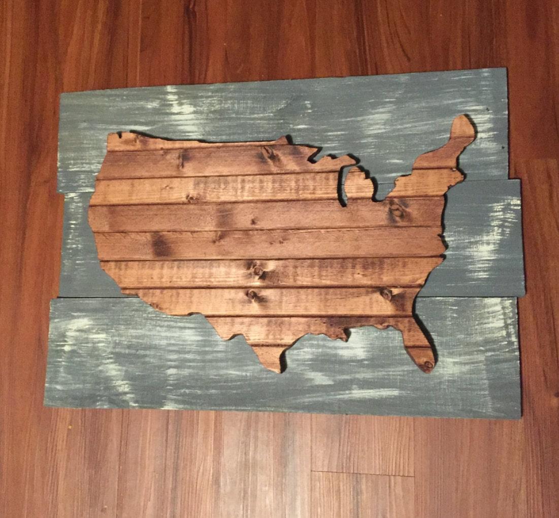 us map wall hanging