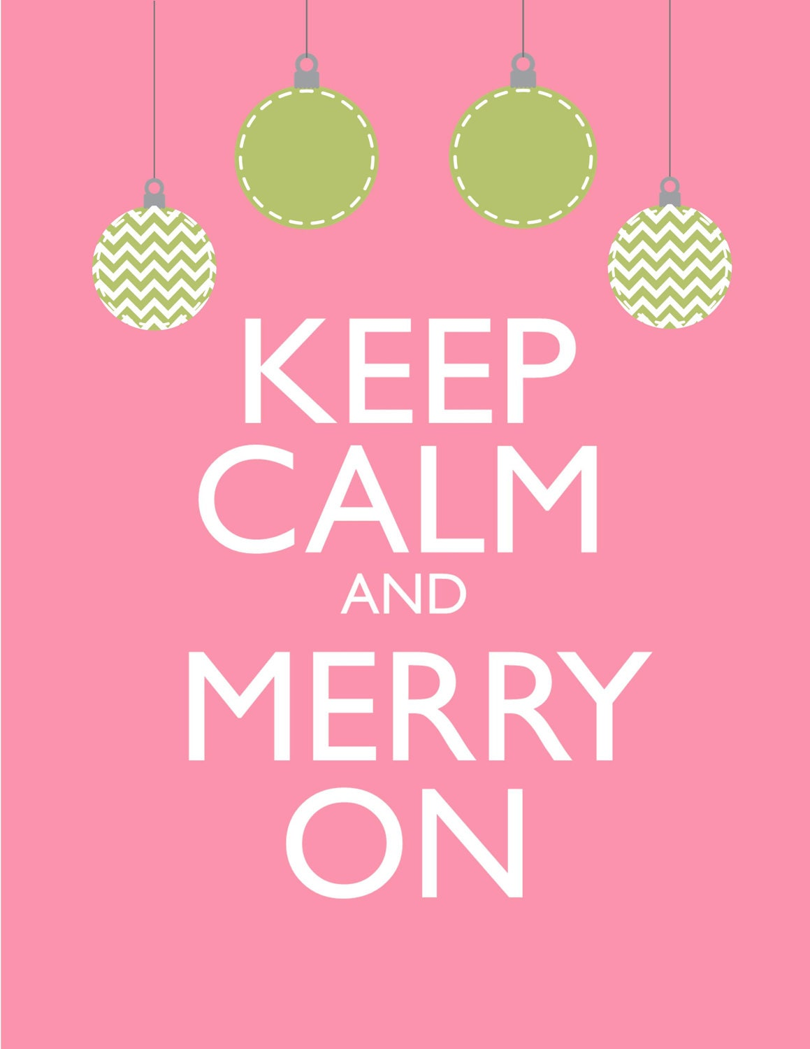 Holiday Sale Christmas Print Keep Calm and Merry On
