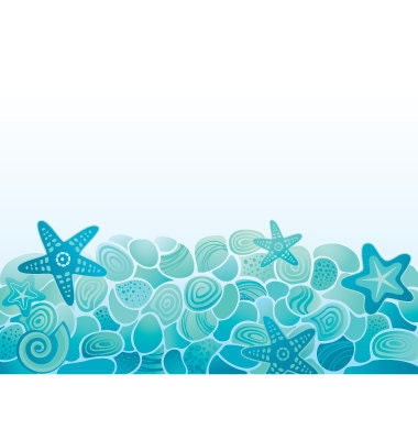 Digital Sea floor background. Design elements and paper for scrapbooking. - ArtanikaArt