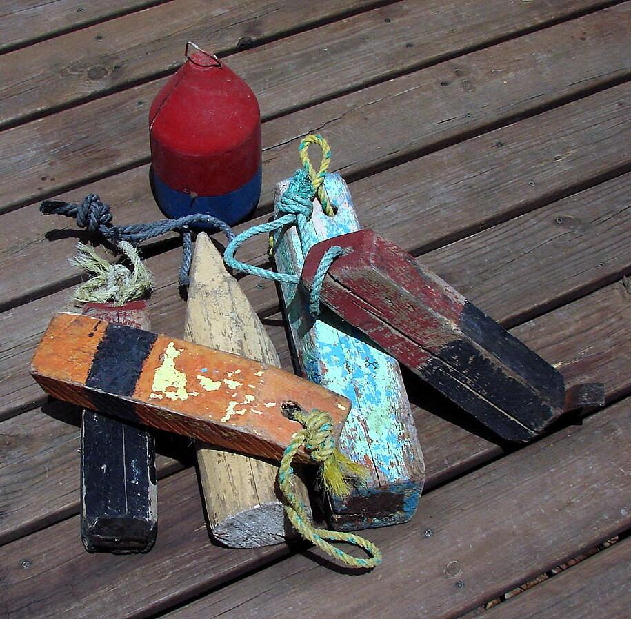 Vintage lobster pot trap buoys great beach decor by rusticcreek - Trap decor ...