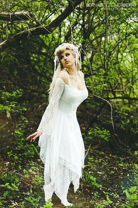 Items Similar To Fairy Medieval Fantasy Shorter Wedding Dress Jagged Skirt Custom On Etsy