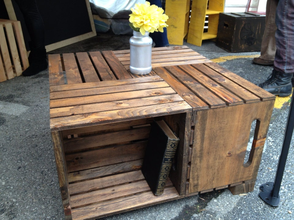 Crate Coffee Table By Recirclematter On Etsy