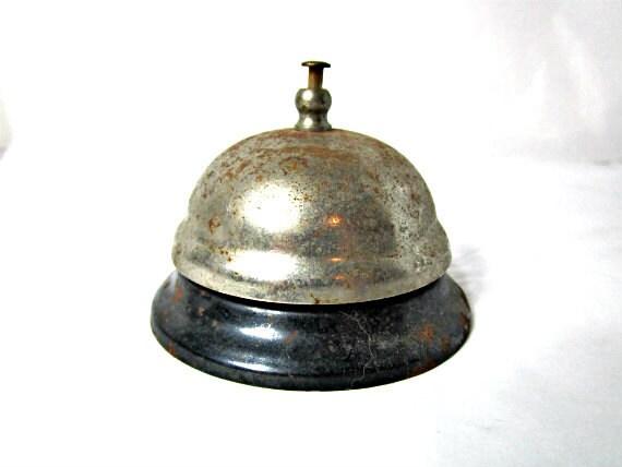Vintage Desk Bell Hotel Clerk Bell School Desk Bell - RusticHill
