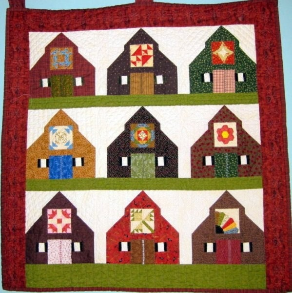 Barn blocks for quilt on Pinterest Barn Quilts, Block Patterns and Barns