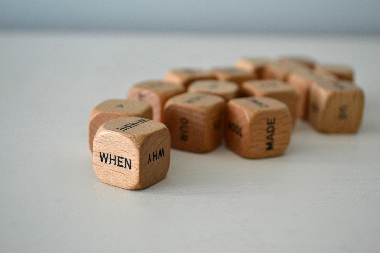 Writer 39 S Block Word Cubes Vintage Wooden Dice By Saltandginger