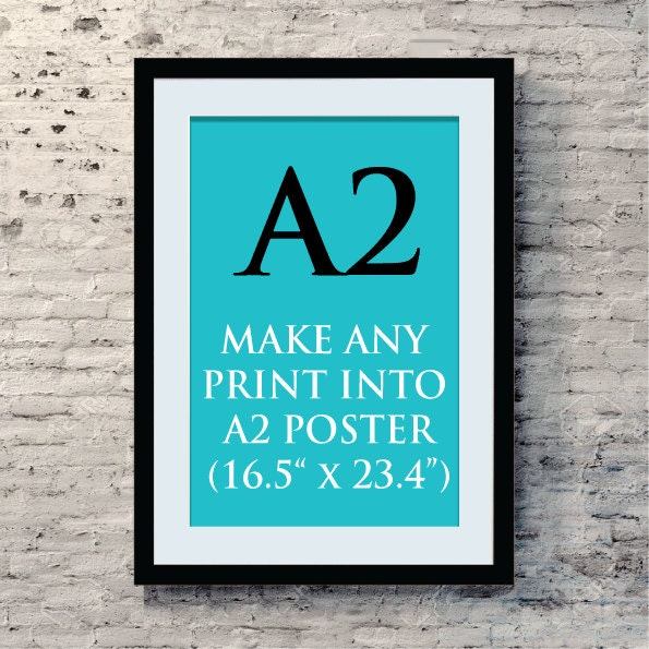 What is a good poster size
