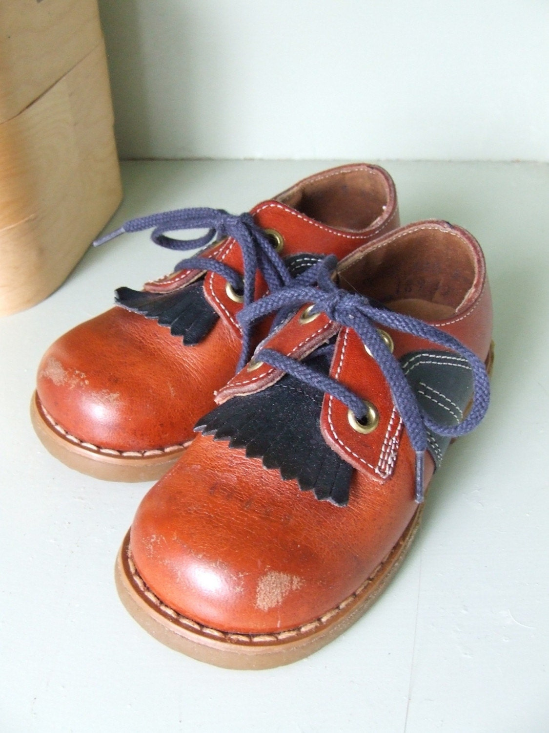 dude shoes vintage buster brown by stilettogirlvintage