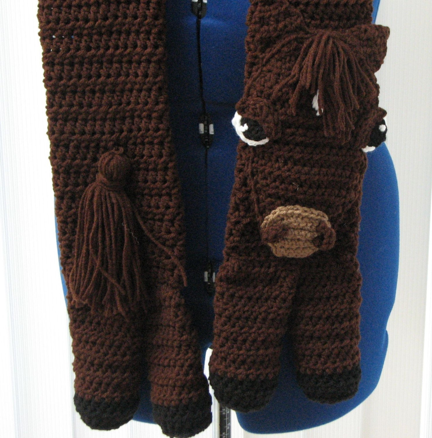 Horse Animal Scarf Crochet Pattern Direct Download