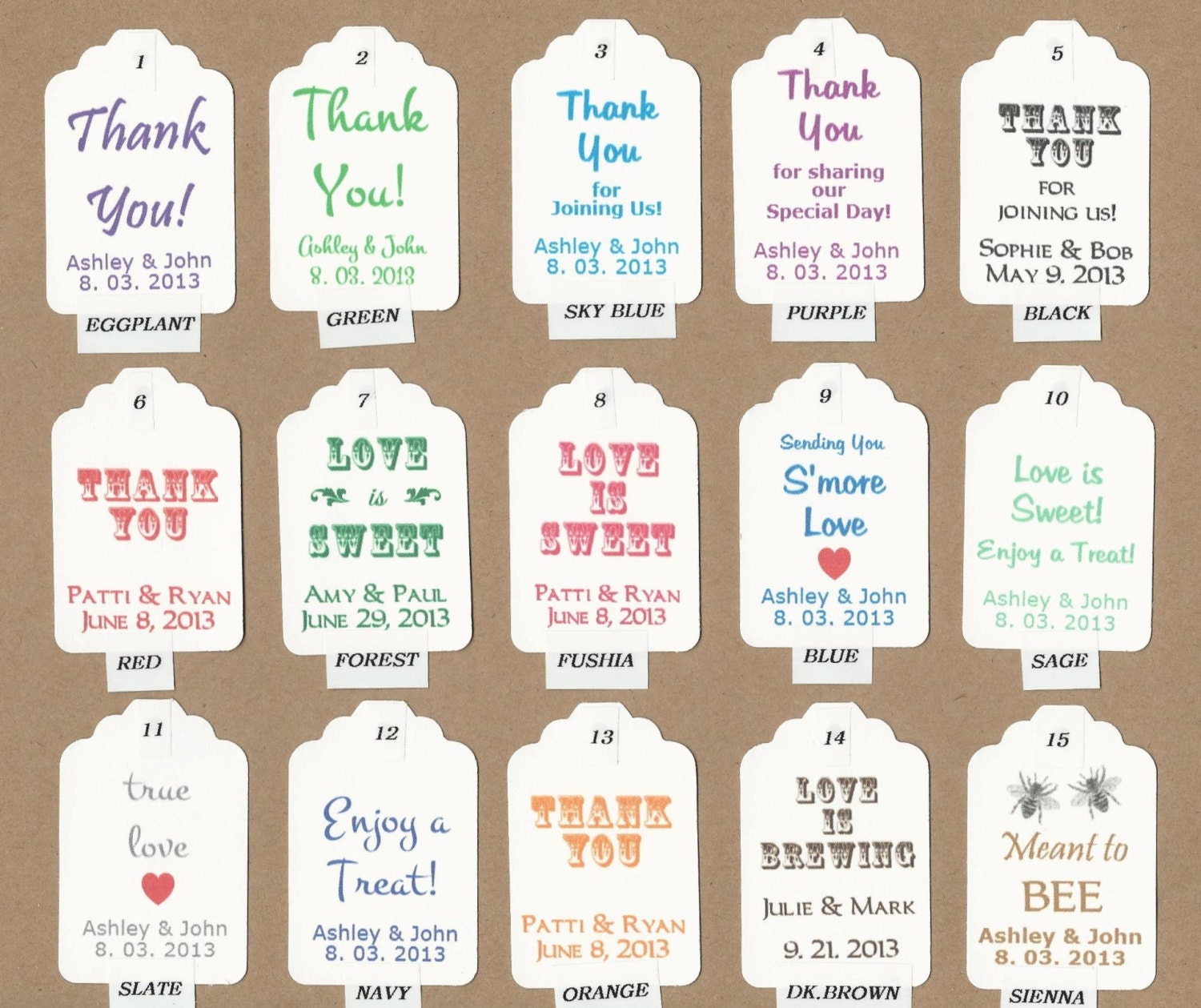 Wedding Gift Labels Template : CUSTOM Color Favor Tags/ Gift Tags/Shower/Wedding Favor Tags/ Vintage ...