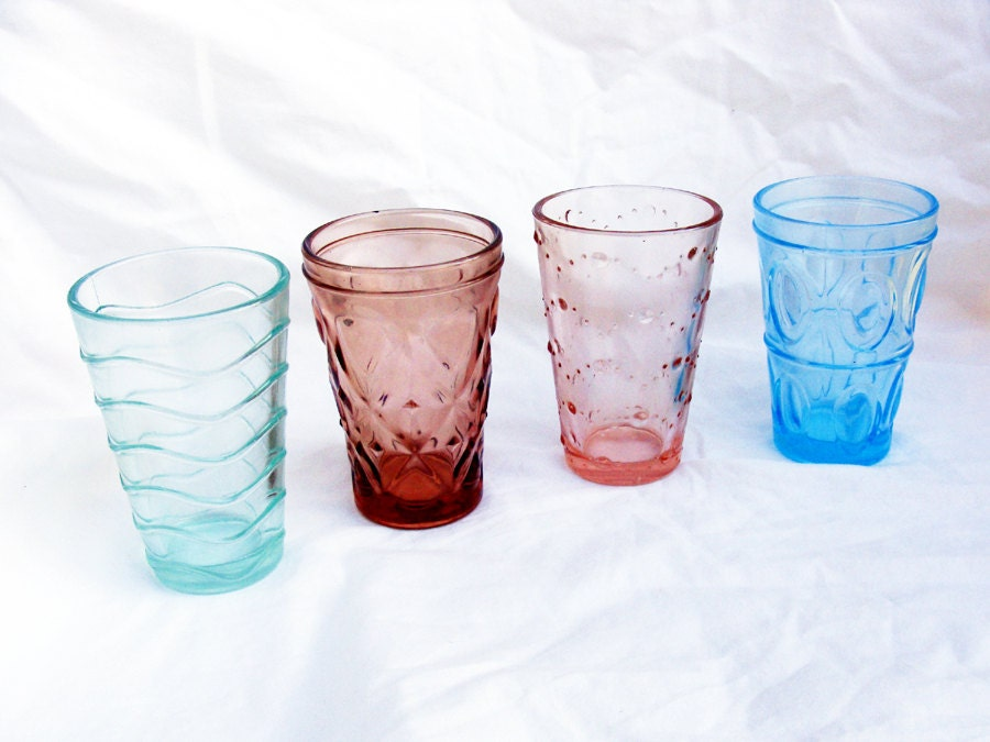 Multi Colored Drinking Glasses