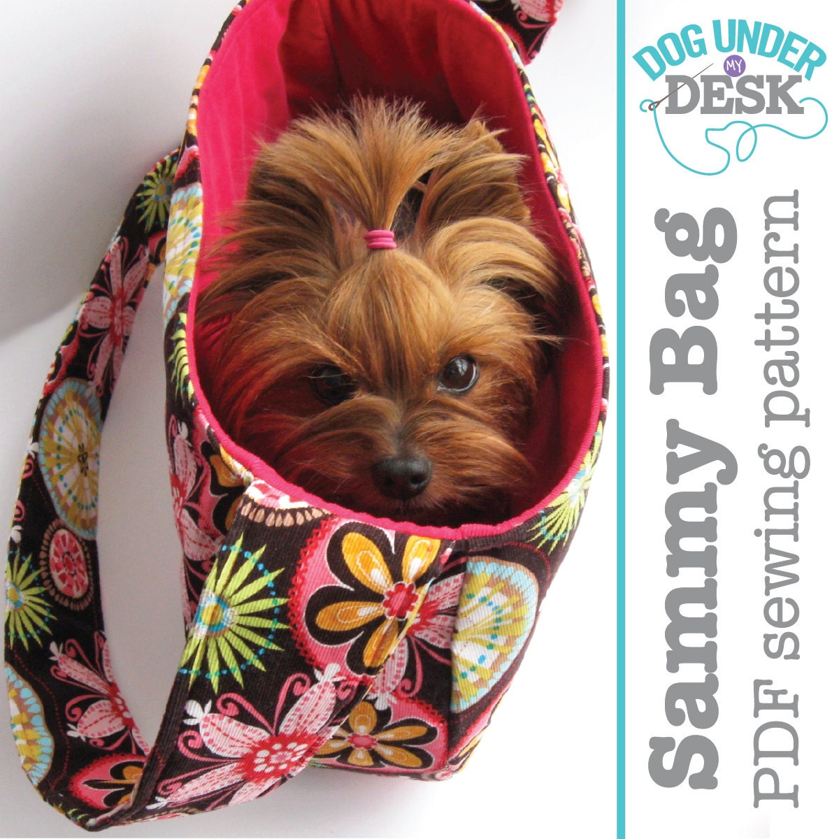 Sammy bag dog sling carrier pdf pattern by erinerickson on - Dog carrier sling pattern ...