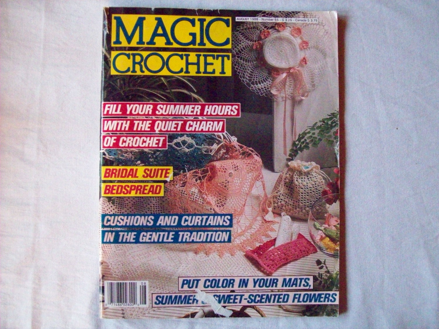 Magic Crochet Magazine : Magic Crochet Magazine August 1988 issue 55 by CozyHomeCrochet
