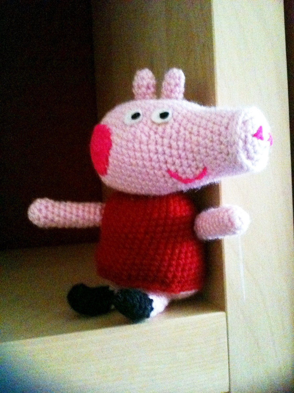 Peppa Pig Amigurumi Crochet : Items similar to Amigurumi Pig Crochet Pattern (Inspired ...