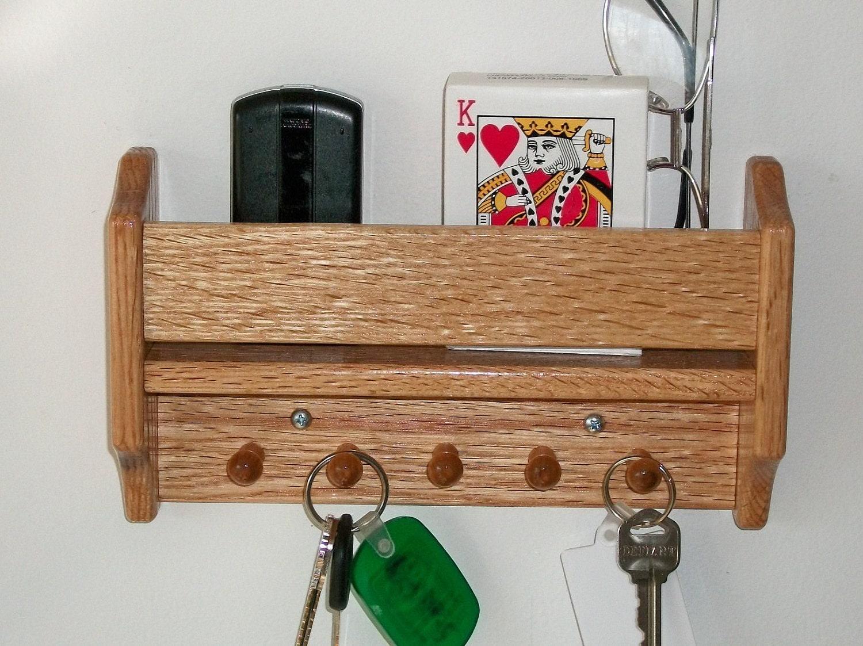 Wall Shelf Wooden Oak Wall Hanging Shelf Key By