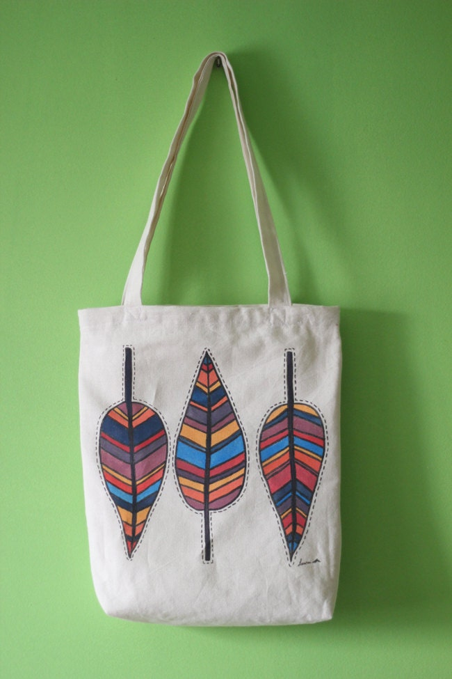 Autumn leaves canvas tote bag MADE TO ORDER