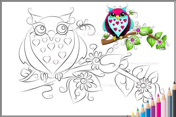 Coloring Pages Cute Owl  Learn How to Draw and Coloring