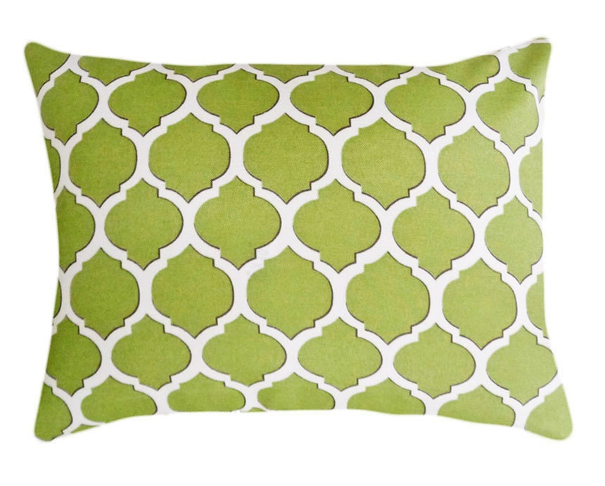 Green Geometric Throw Pillow : Unavailable Listing on Etsy