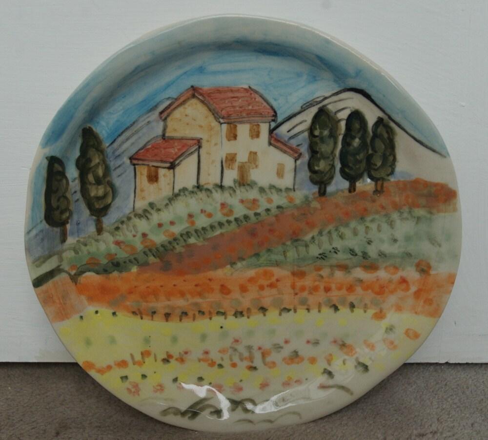 Italian Scenery Plate