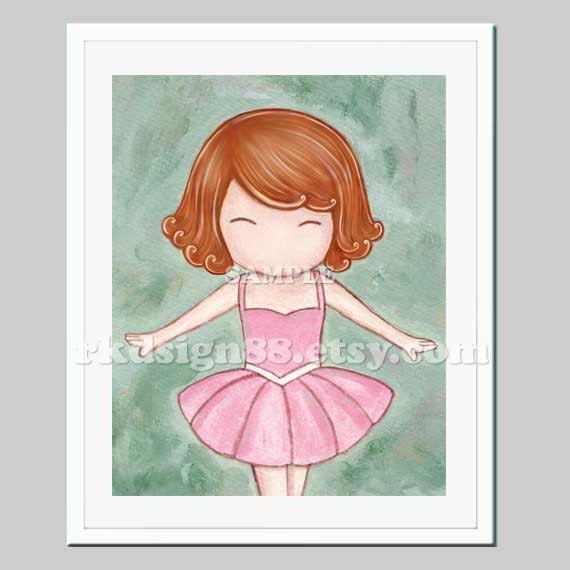 Ballerina Nursery Decor Girl Nursery Wall Decor By Rkdsign88