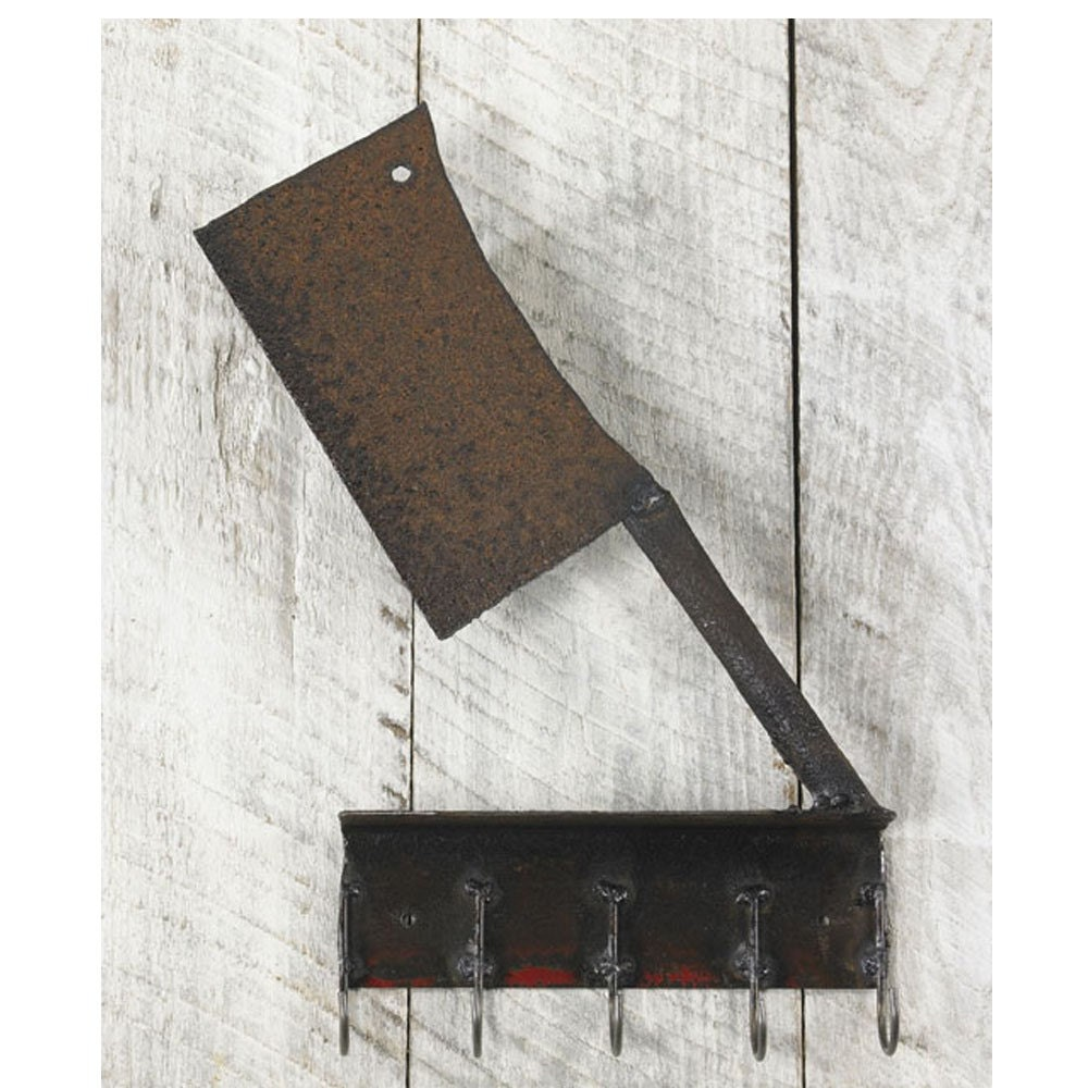 Kitchen Hook Reclaimed Farm Metal Cleaver Butcher - TheSteelFork