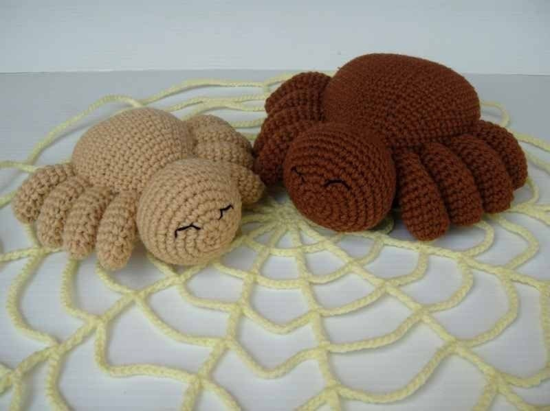 items similar to crochet pattern halloween spider toys. Black Bedroom Furniture Sets. Home Design Ideas