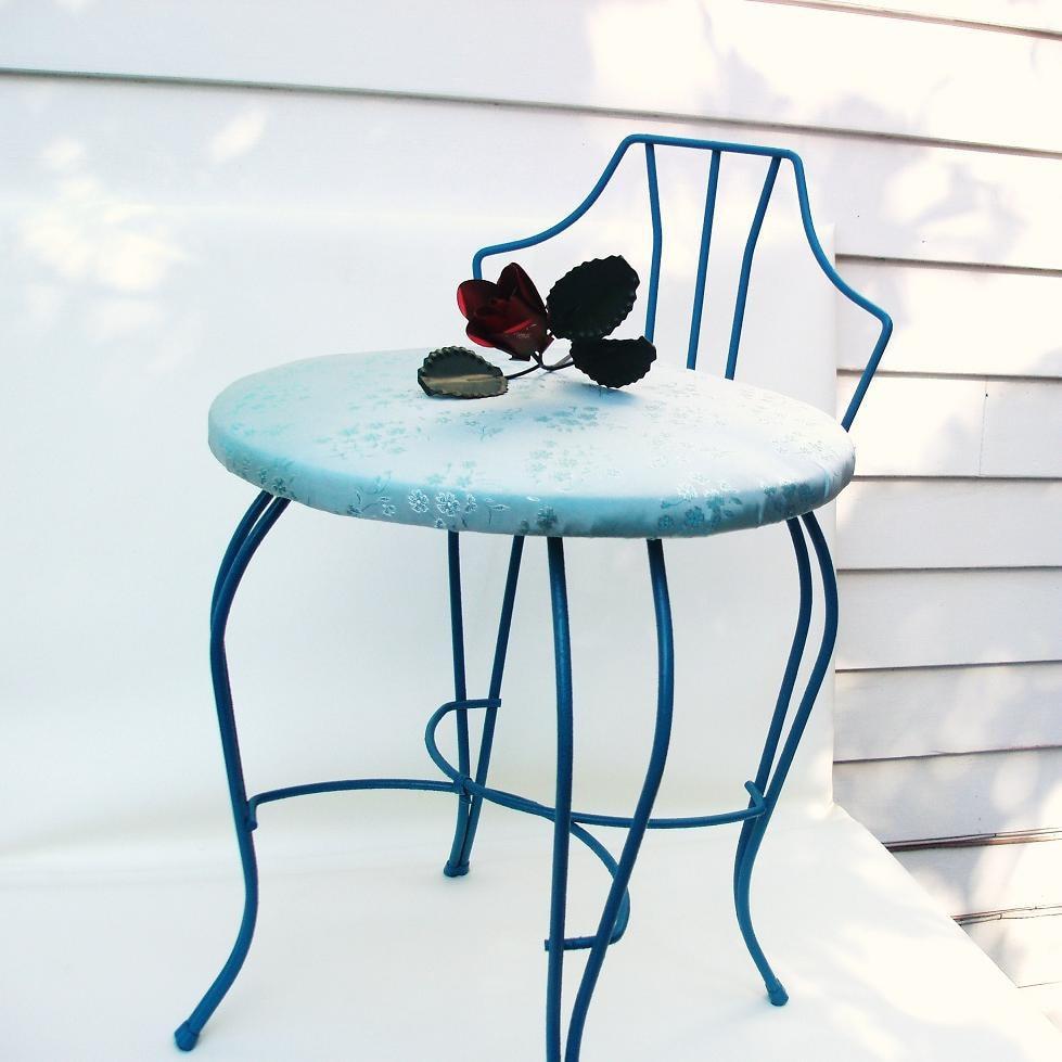 Vintage Metal Vanity Chair Painted Furniture Vanity By