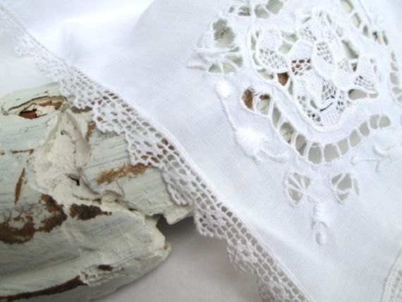 Vintage White Lace Hanky Lace Hankerchief Wedding