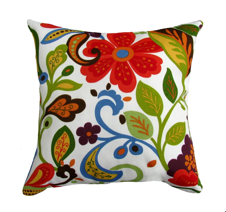 Decorative Outdoor Fall Pillows : Floral Throw Pillow Richloom Solarium by LandofPillowsDotCom