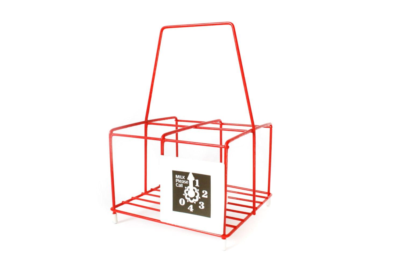 vintage milk bottle carrier british 1970s by thrifters on etsy. Black Bedroom Furniture Sets. Home Design Ideas