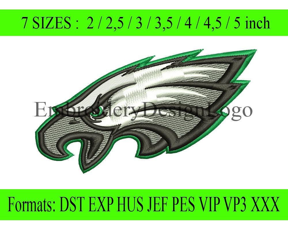 Philadelphia eagles logo embroidery design