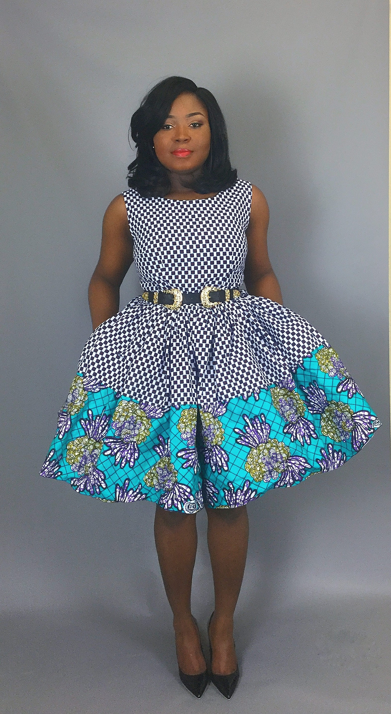 African mixed print cocktail dressAfrican clothingAfrican wax printdresseswomens clothingAfrican clothingdashikimaxi skirtsmini