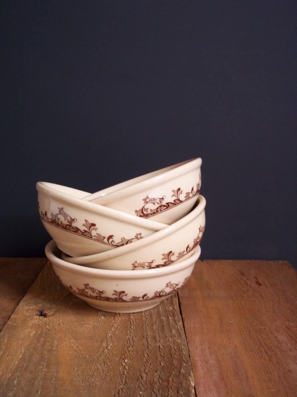 Retro Set of 4 Diner Restaurant Bowls Mayer China Housewares Vintage Entertaining Serving - SPARKLESandSASS