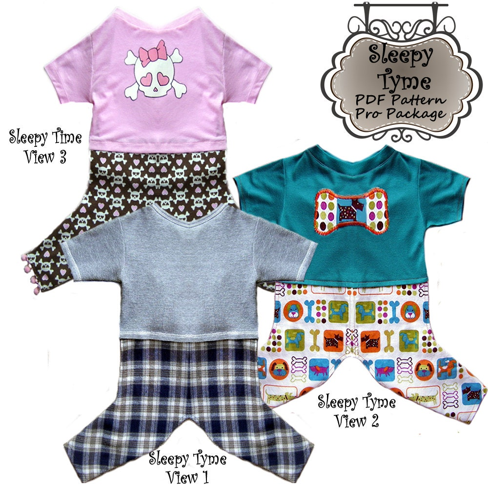 Sewing Pattern for Dog Pajamas | Owners Manual Download PDF